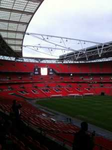 An empty Wembley Stadium